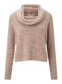 Miss Selfridge Pnk Boucle Jumper