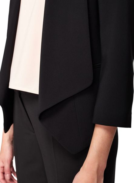 Miss Selfridge Black Waterfall Blazer