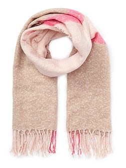 Neon Pink Boucle scarf