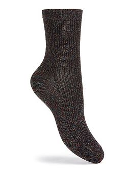 Metallic Ankle Sock