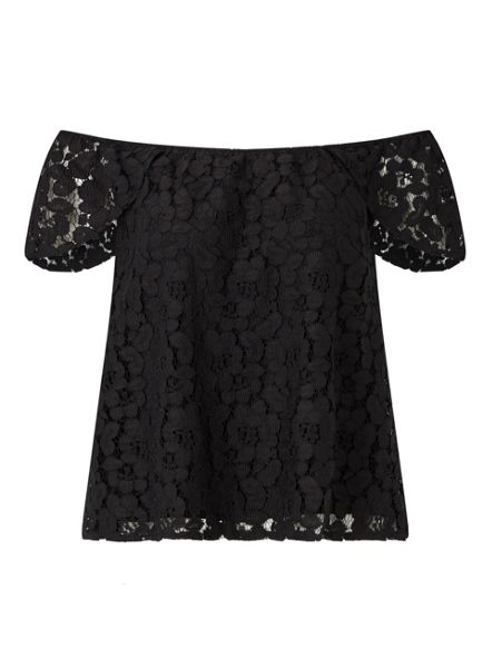 Miss Selfridge Black Lace Bardot