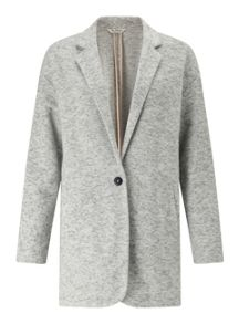 Miss Selfridge Grey Brushed Duster Coat