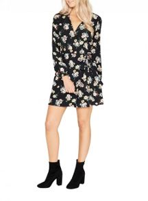 Miss Selfridge Floral Wrap Belt Dress