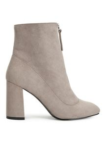 Miss Selfridge Aden Grey Zip Boot