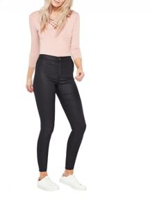 Miss Selfridge Steffi Black Coated Jean