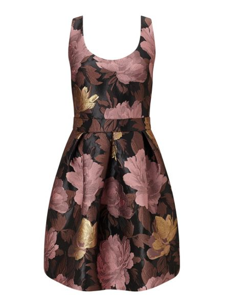 Miss Selfridge Bow Back Floral Prom Dress