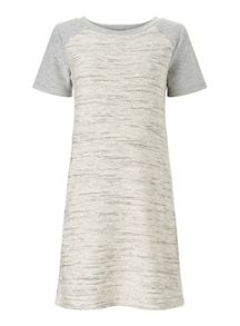 Miss Selfridge Grey Contrast Sleeve Dress