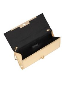 Miss Selfridge Metallic Twist Lock Clutch