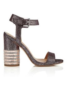 Miss Selfridge Castle Jewel Heel Sandal