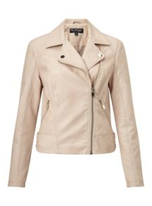 Miss Selfridge Pink Pu Biker Jacket
