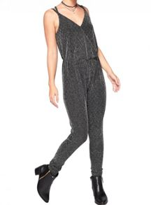 Miss Selfridge Petite Glitter Jumpsuit