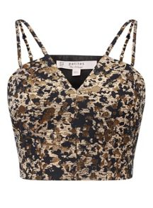 Miss Selfridge Petite Animal Jacquard Bralet