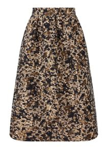 Miss Selfridge Petite Animal Print Midi Skirt
