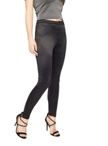 Miss Selfridge Black Shiny Disco Pant