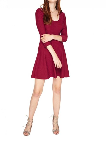 Miss Selfridge Purple Textured Skater Dress