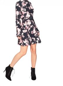 Miss Selfridge Petite Rose Print Dress