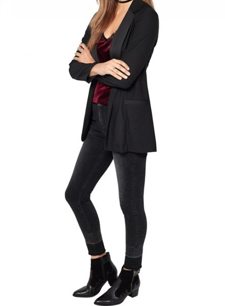 Miss Selfridge Black Unlined Blazer