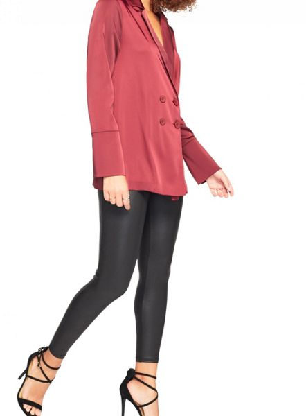 Miss Selfridge Burgundy Satin Tux Jacket