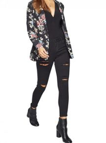 Miss Selfridge Floral Tux Jacket