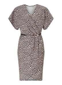 Miss Selfridge Printed Wrap Belted Dress