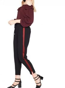 Miss Selfridge Black Side Stripe Jogger