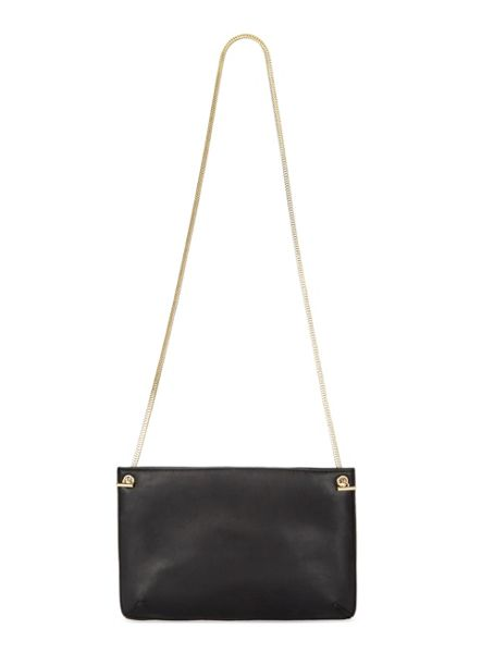 Miss Selfridge Black Metallic Cross Body Bag