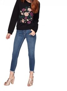 Miss Selfridge Lizzie Step Hem Skinny Jean