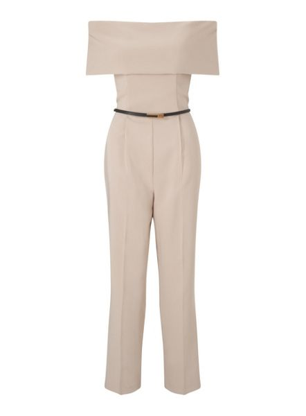 Miss Selfridge Mink Depp Bardot Jumpsuit