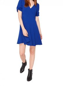 Miss Selfridge Coblat Bow Sleeve Dress