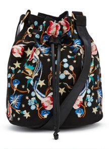 Miss Selfridge Embroided Bucket Bag