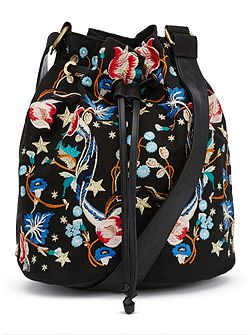 Embroided Bucket Bag