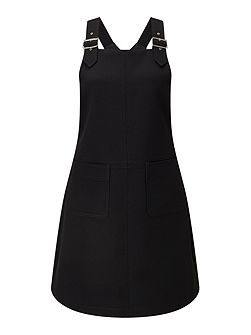 Pinafore Buckle Dress