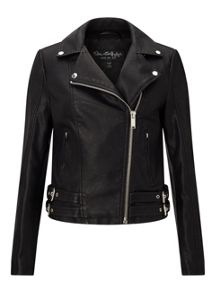 Miss Selfridge Black Karen Pu Biker Jacket