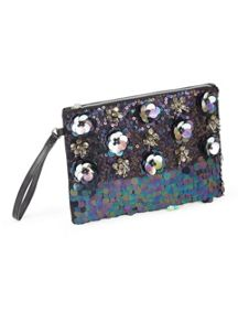 Miss Selfridge 3D Applique Clutch