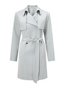 Miss Selfridge Grey Belted Trench Coat