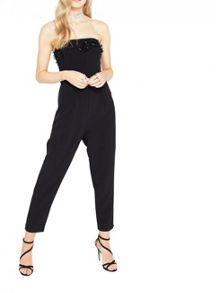 Miss Selfridge Embellished Neckline Jumpsuit