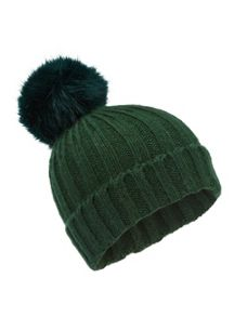 Miss Selfridge Pom Beanie Hat