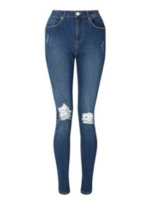 Miss Selfridge Lizzie Busted Knee Jean