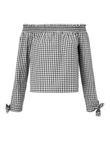 Miss Selfridge Gingham Bardot