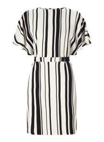 Miss Selfridge Stripe Tie Kimono Dress