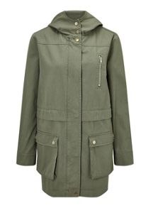 Miss Selfridge Khaki Lightweight Parka