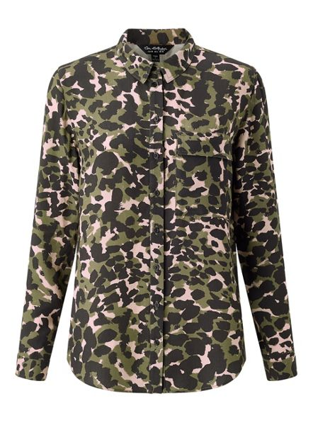 Miss Selfridge Camo Military Shirt