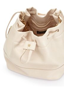 Miss Selfridge Slouch Bucket Bag Nude