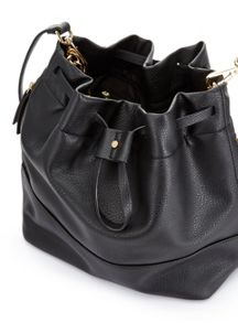 Miss Selfridge Slouch Bucket Bag Black