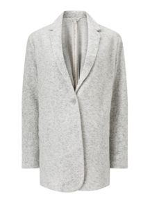 Miss Selfridge Grey Brush Duster Jacket