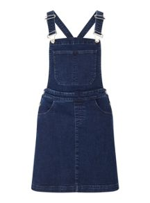 Miss Selfridge Dark Wash Denim Pinny Dress