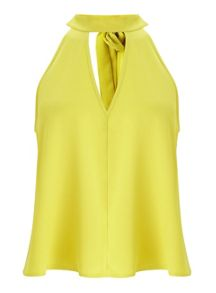 Miss Selfridge Chartreuse Keyhole Shell