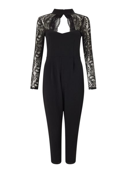 Miss Selfridge Petites Choker Lace Jumpsuit