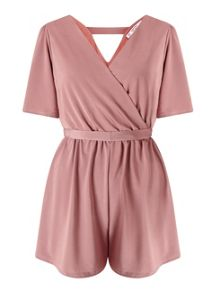 Miss Selfridge Petite Slinky Wrap Playsuit
