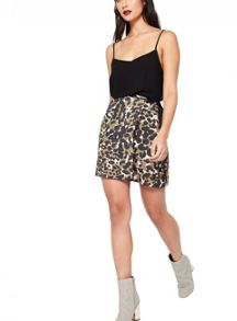 Miss Selfridge Camo D-Ring Mini Skirt